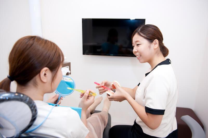 歯科衛生士によるブラッシング指導